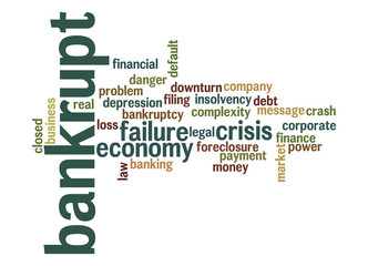 Bankrupt word cloud