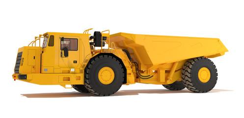 Articulated underground dump truck