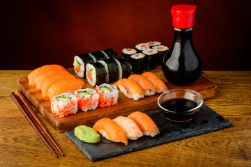 still life with sushi