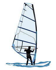 illustration of windsurfer