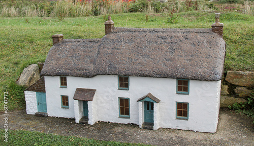 A Model of a Traditional Rural Farming Cottage.