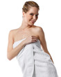happy woman with a towel