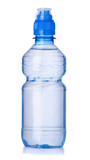 Plastic bottle of clear water