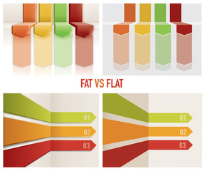 abstract flat fat Design