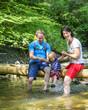 Wanderung am Fluss