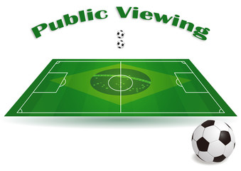 Fussballspiel Einladung - Public Viewing