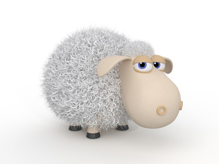 3d ridiculous sheep.