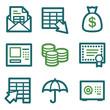 Banking web icons, green line set