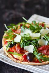 Fresh pizza.