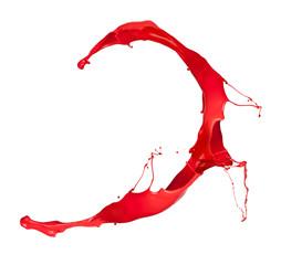 Red splash