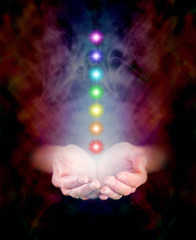 Chakra Energy Healing and cupped hands