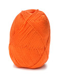 ball of orange threads white background