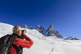 Photographer in the Pale di San Martino Nat. Park, Italy
