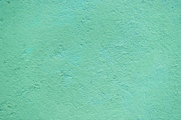 Turquoise  concrete wall