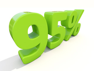 95% percentage rate icon on a white background