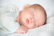 canvas print picture - Infant baby boy sleeping peacefully