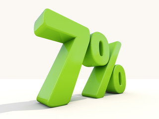 7% percentage rate icon on a white background