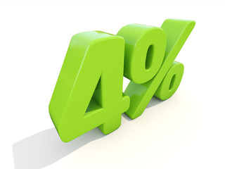 4% percentage rate icon on a white background