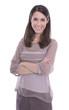 Portrait: Hübsche junge Frau im Business Outfit isoliert