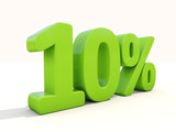 10% percentage rate icon on a white background