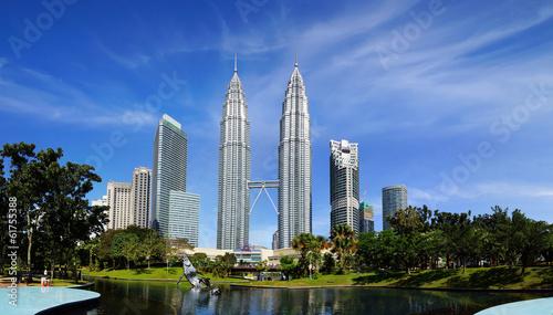 In de dag Overige Petronas Twin Towers at Kuala Lumpur, Malaysia.
