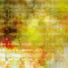 Colorful abstract geometric grunge beige pattern. Eps10