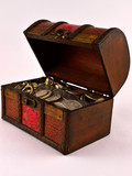 Treasure Chest With Silver coins 3