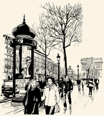 Paris - avenue des champs-elysees