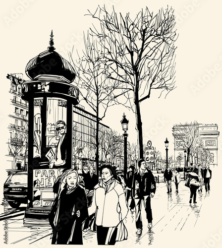Fototapeta Paris - avenue des champs-elysees