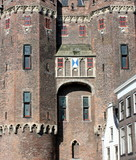Front of a city-gate Sassenpoort in Zwolle