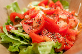 Fresh tomato and lettuce salad