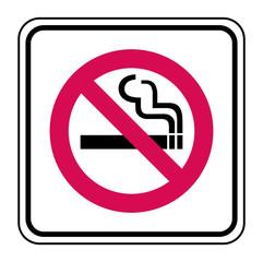 Panneau Interdiction de fumer.