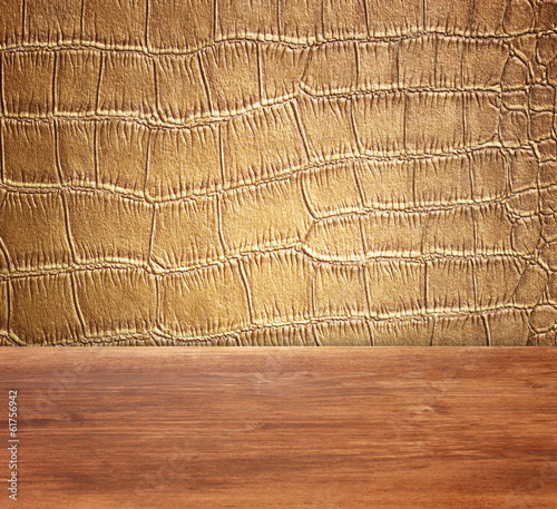 Golden Crocodile Skin Texture and pattern, closeup