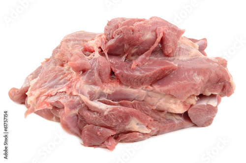 turkey meat on a white background