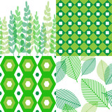 Patterns in shades of green