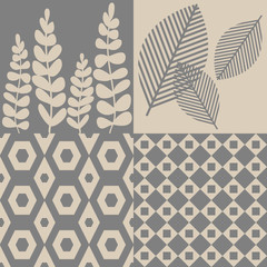 Patterns in grey and beige