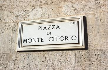 Roma, Piazza di Monte Citorio