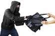 A thief stealing handbag