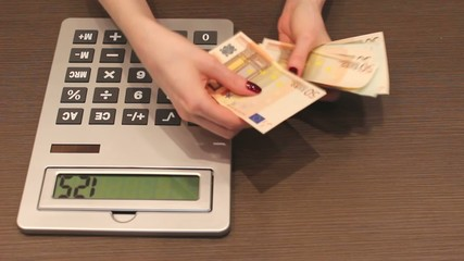 Counting money EURO