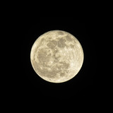 Full moon in dark night sky. Abstract background.