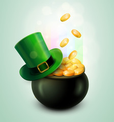 Pot Of Gold and Green Hat
