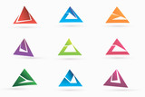 triangle Business abstract logo template