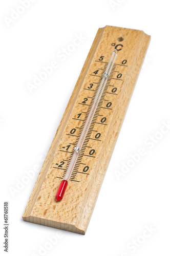 Retro thermometer isolated on the white background