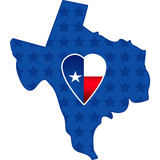 Patriotic heart housed in Texas