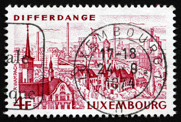Postage stamp Luxembourg 1974 View of Differdange