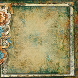 Grunge vintage background with flowers