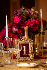 Decoration on wedding day
