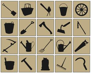 farm tool symbols