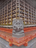 Perspective of Shri Krishna Temple wooden framed wall, Ambalpura