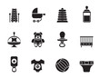 Silhouette Child, Baby and Baby Online Shop Icons